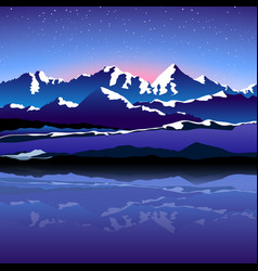 Picture mountain vector