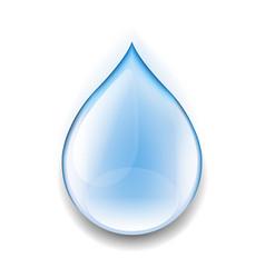 Realistic water drop vector