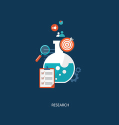 Research concept flat vector