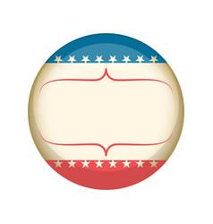 retro united states campaign button vector image