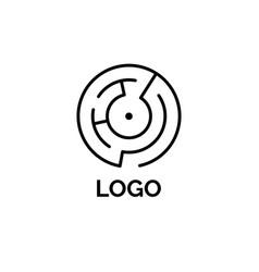 round maze logo vector image