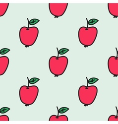 Seamless pattern with apple Hand-drawn background vector