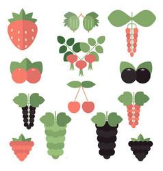 Set juicy berries set juicy berries vector