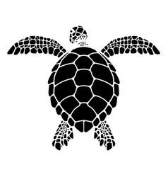 swimming sea turtle graphics vector image