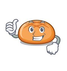 thumbs up hamburger bun character cartoon vector image