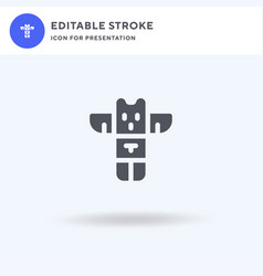 totem icon filled flat sign solid vector image