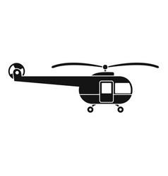 Transport helicopter icon simple style vector
