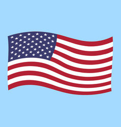 Usa flag flying vector