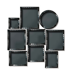 vanity led lighted mirrors vector image
