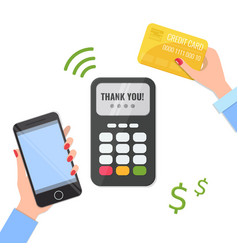 wireless method payment with your smartphone and vector image