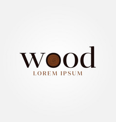 wood letter type logo sign symbol icon vector image