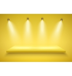 Yellow Presentation platform vector