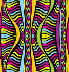 color abstract African lines vector image