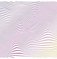 Colorful abstract wavy background with stripes vector image