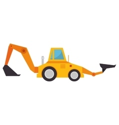 Construction machinery isolated icon vector