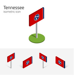 flag of tennessee usa 3d isometric flat icons vector image vector image