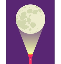flashlight moon vector image