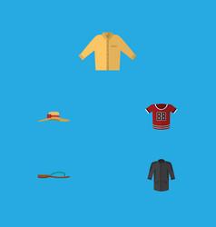 flat icon garment set of banyan elegant headgear vector image vector image