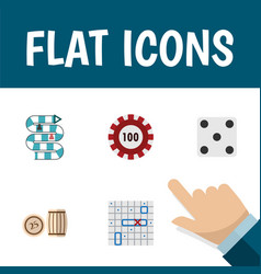 flat icon play set of sea fight multiplayer vector image vector image