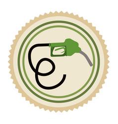 green emblem nozzle icon vector image