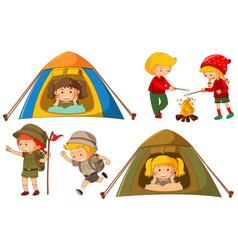happy children doing different activities for vector image vector image