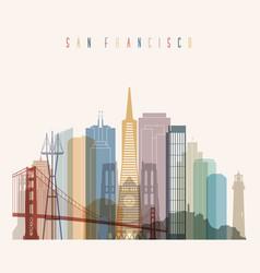 san francisco state california skyline vector image