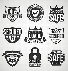 Security labels vector image vector image