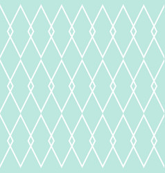 tile pattern or mint green and white background vector image vector image
