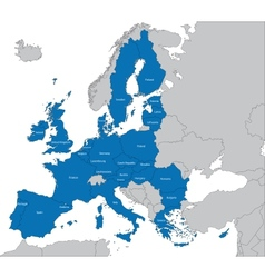European Union map vector image