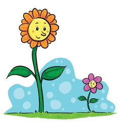 Flower Friends vector image vector image