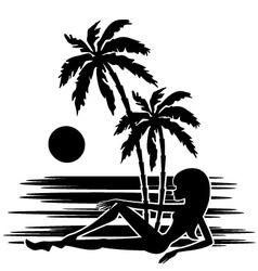 tropics a palm trees vector image vector image
