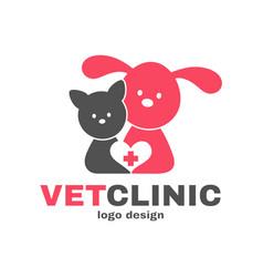 Vetclinic logo design templete vet clinic vector