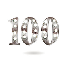100 years anniversary celebration design vector image