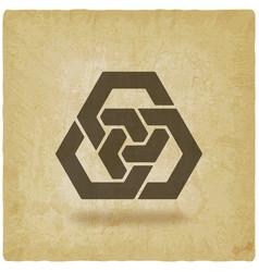 abstract interlocking hexagons vintage background vector image vector image