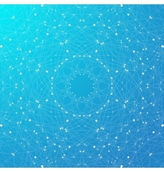 Blue graphic background molecule and communication vector