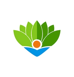 ecology bio leaf abstract logo vector image