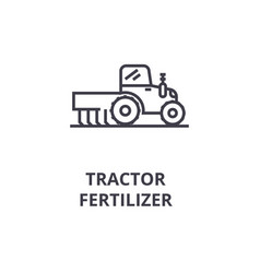 tractor fertilizer line icon outline sign linear vector image