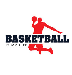 basketball it my life basketman background vector image