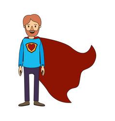 color image caricature full body super dad hero vector image
