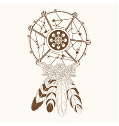 dream catcher free spirit magic vector image vector image
