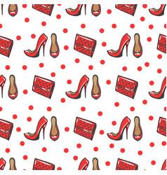fashion seamless pattern vector image