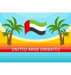 United Arab Emirates Travelling Banner Welcome vector image