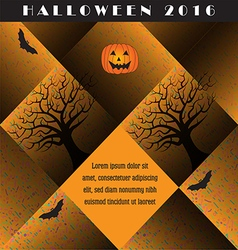 A colorful creative Halloween background vector image vector image