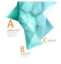 Abstract 3d triangle geometric background vector