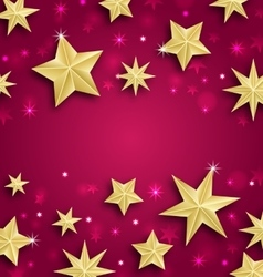 Abstract Background Made of Golden Stars vector