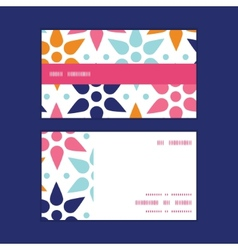 abstract colorful stars horizontal stripe vector image