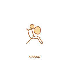 Airbag concept 2 colored icon simple line element vector