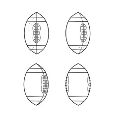 American football ball spinning sequence drawing vector