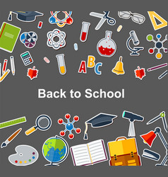 background back to school vector image