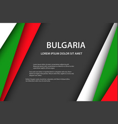 background with bulgarian colors vector image